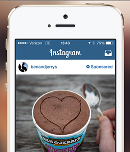 Ben and Jerry's Instagram Ad Example