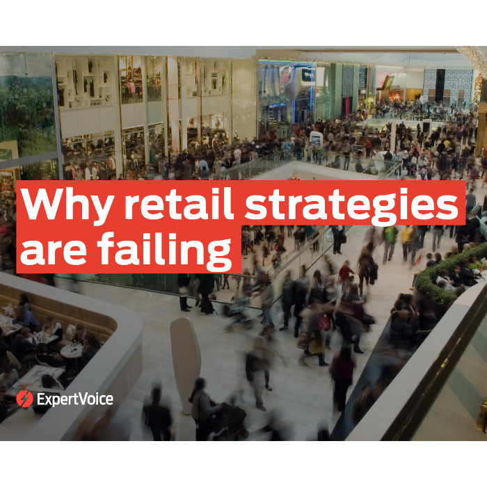 Why retail strategies are failing ExpertVoice eBook cover